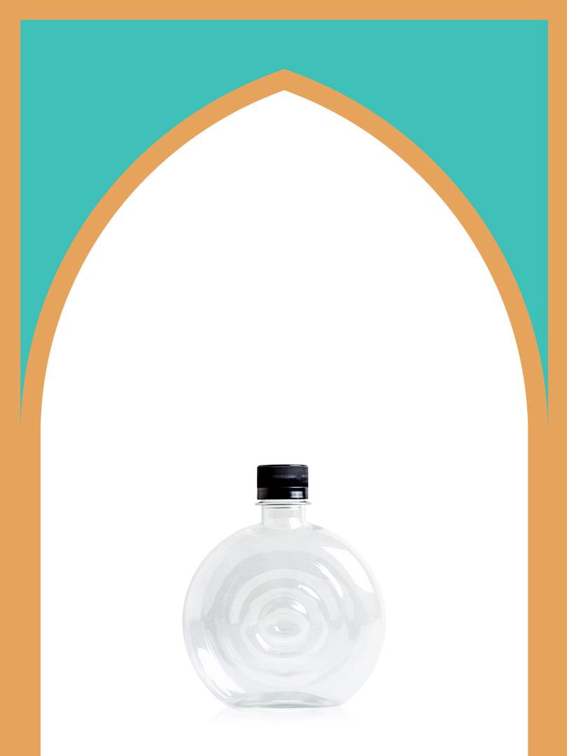 خرید بطری پلاستیکی پت کتابی قطره با درب پلاستیکی | بطری دونات | 350 سیسی