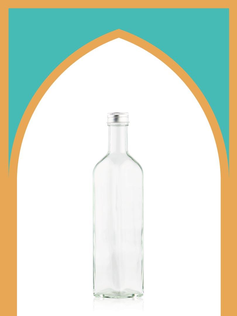 خرید بطری شیشهای تندیس بزرگ با درب فلزی   500 سیسی