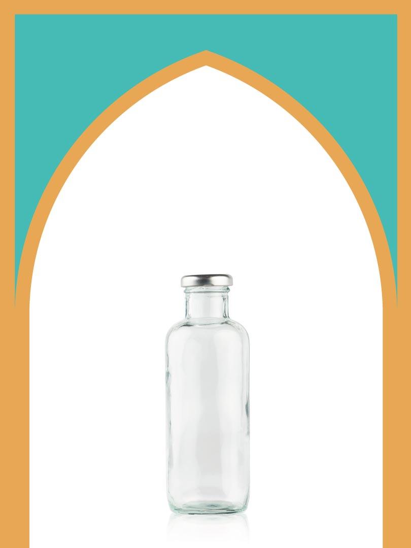 خرید بطری شیشهای گوتیک بزرگ با درب فلزی | 450 سیسی
