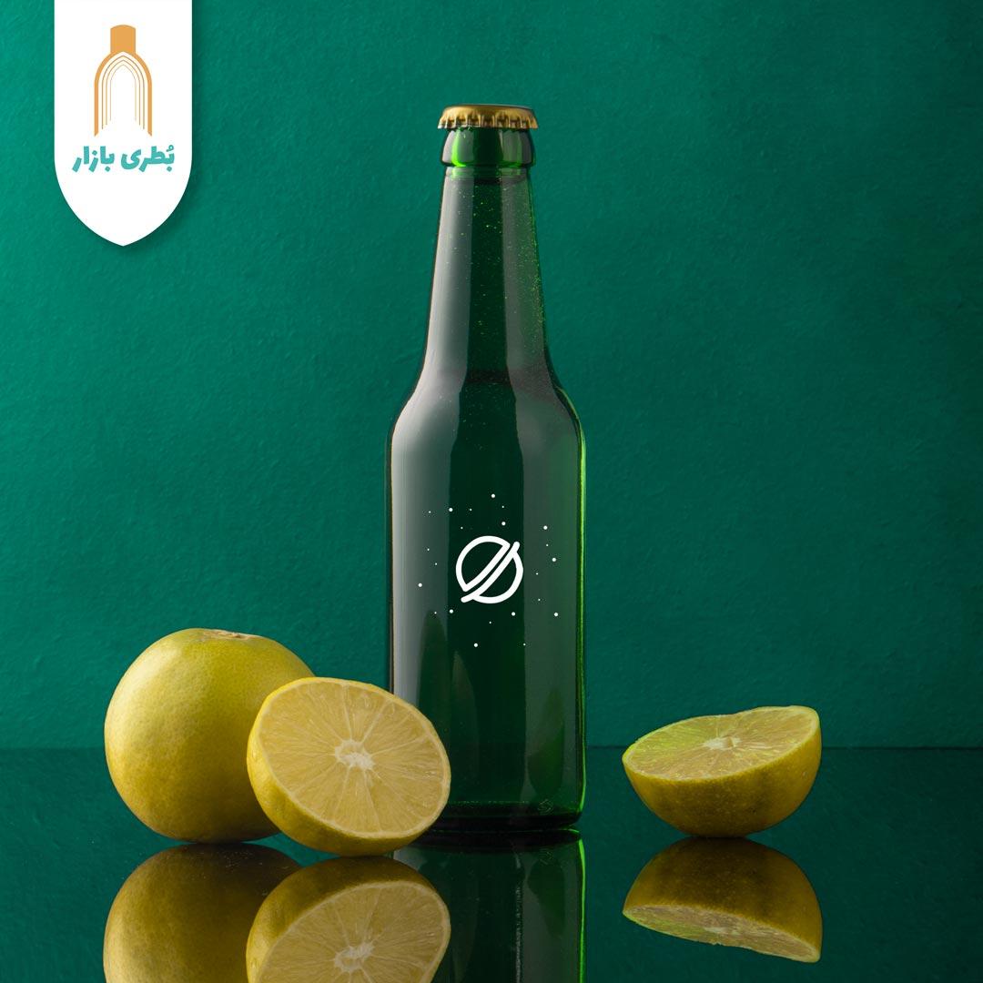 فروش بطری شیشهای سبز دلستری تشتک خور | 330 سیسی