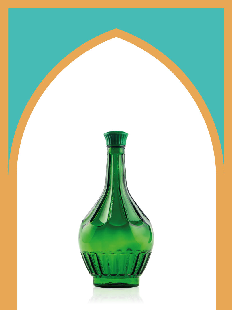 خرید بطری شیشهای سبز خمرهای کوچکترین با درب پلاستیکی | 1 لیتری