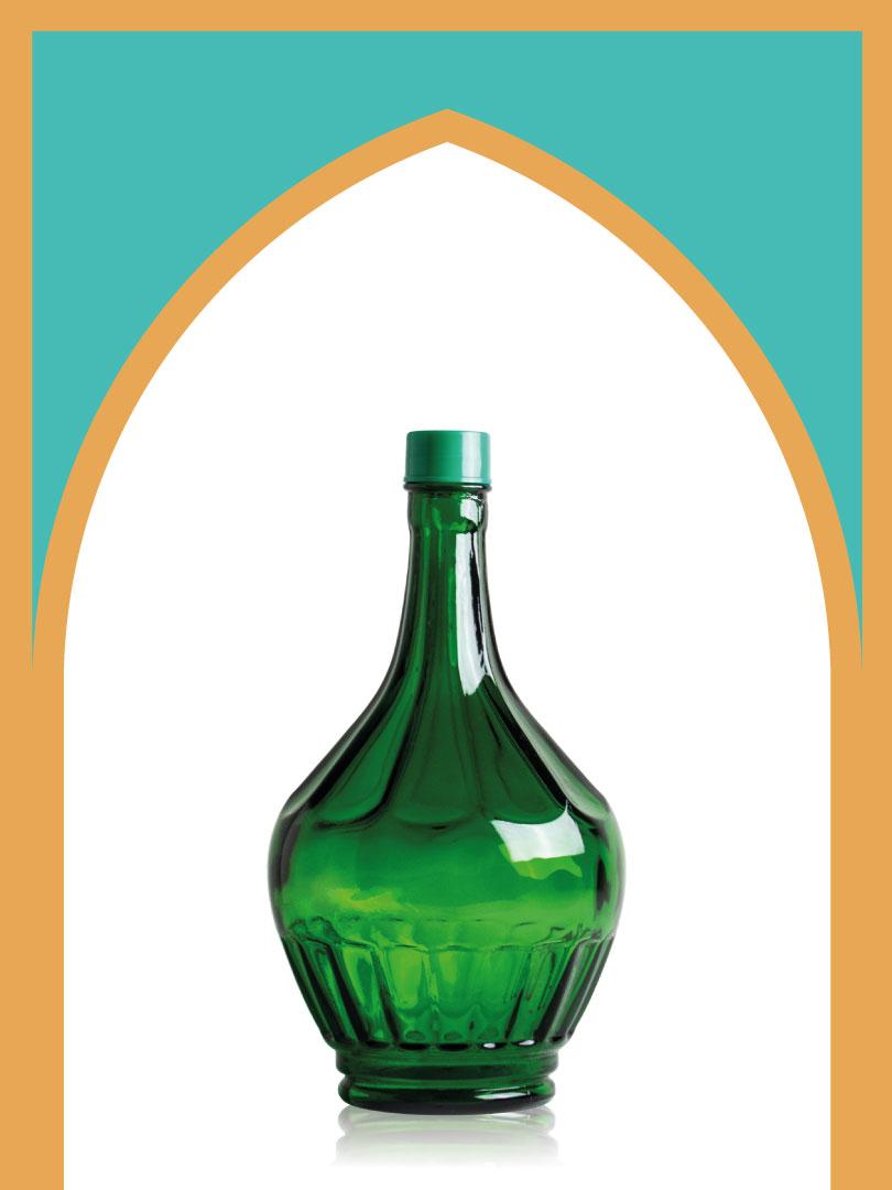 خرید بطری شیشهای سبز خمرهای متوسط با درب پلاستیکی | 3 لیتری