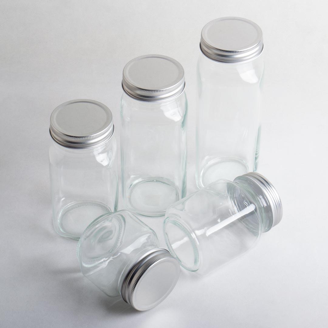 فروش جار شیشهای صاحبقرانیه با درب فلزی