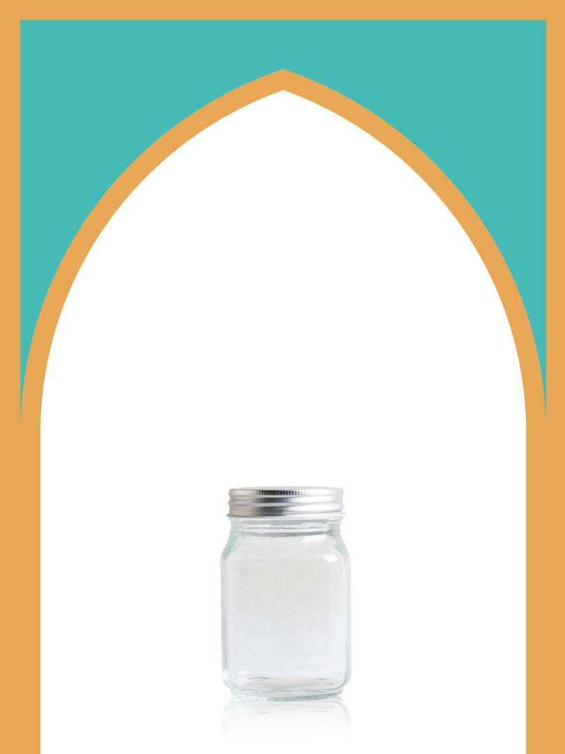 خرید جار شیشهای صاحبقرانیه سایز 4 با درب فلزی | 450 سیسی