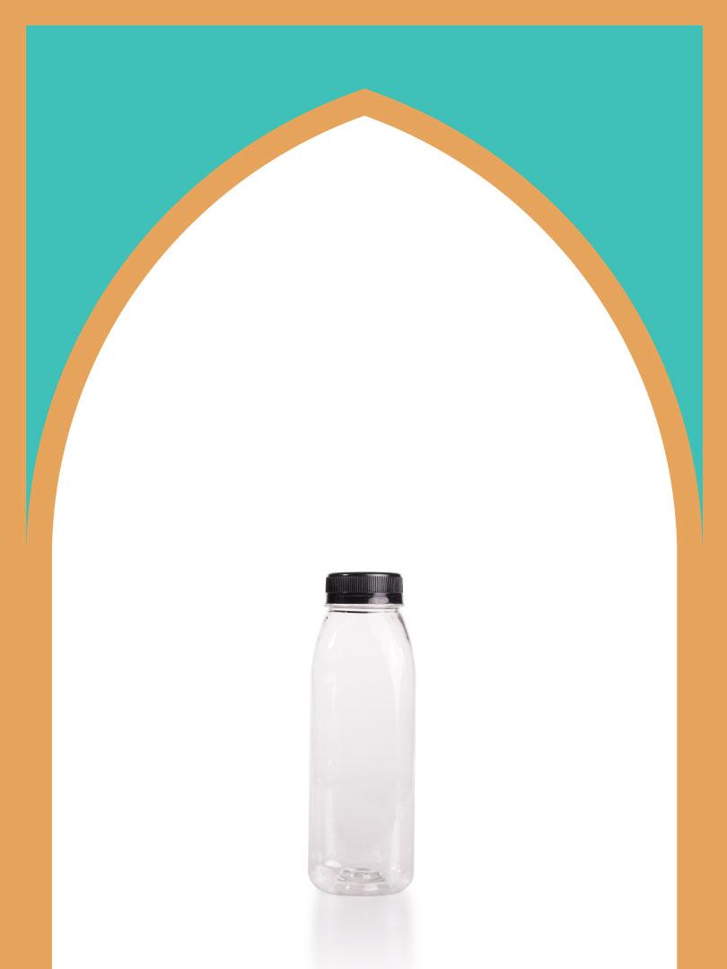 خرید بطری پلاستیکی پت برشتو با درب پلاستیکی | 300 سیسی