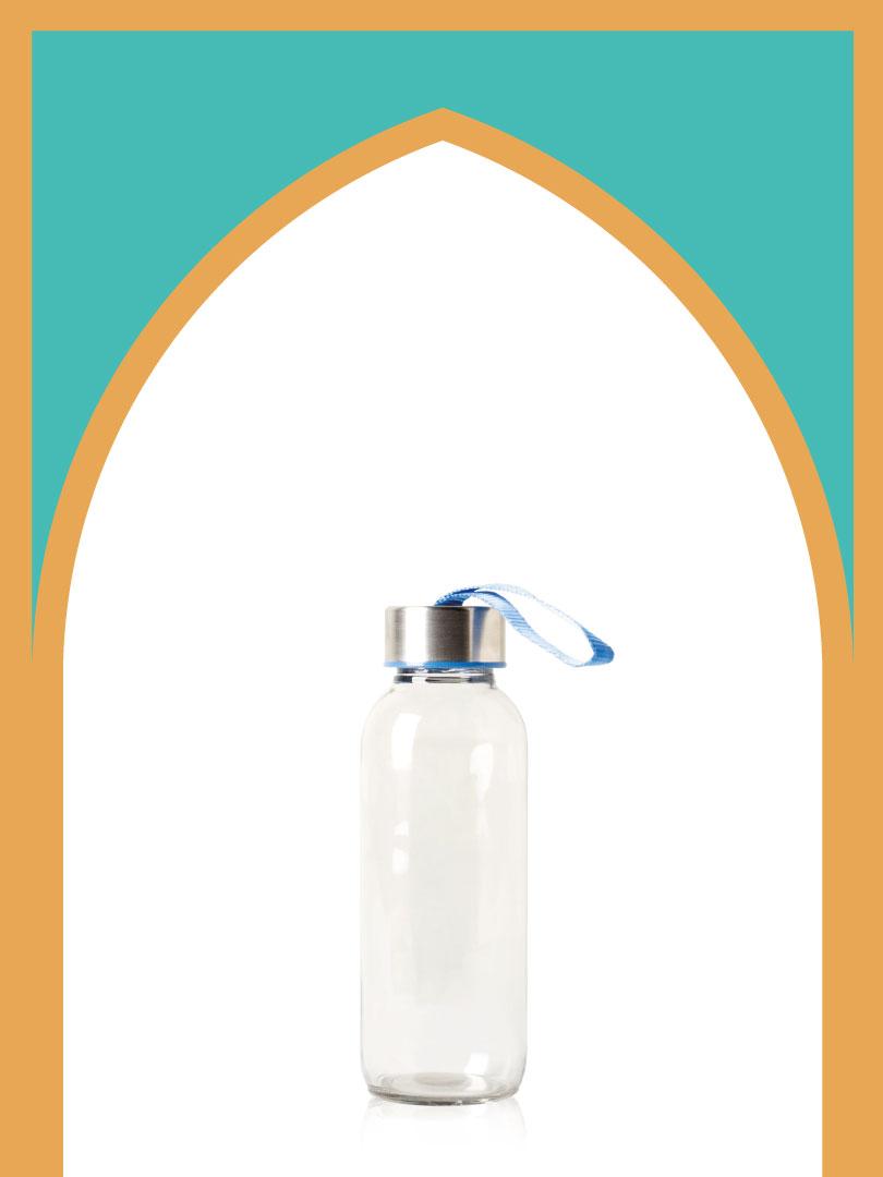 خرید بطری شیشهای ورزشی با درب فلزی | 300 سیسی