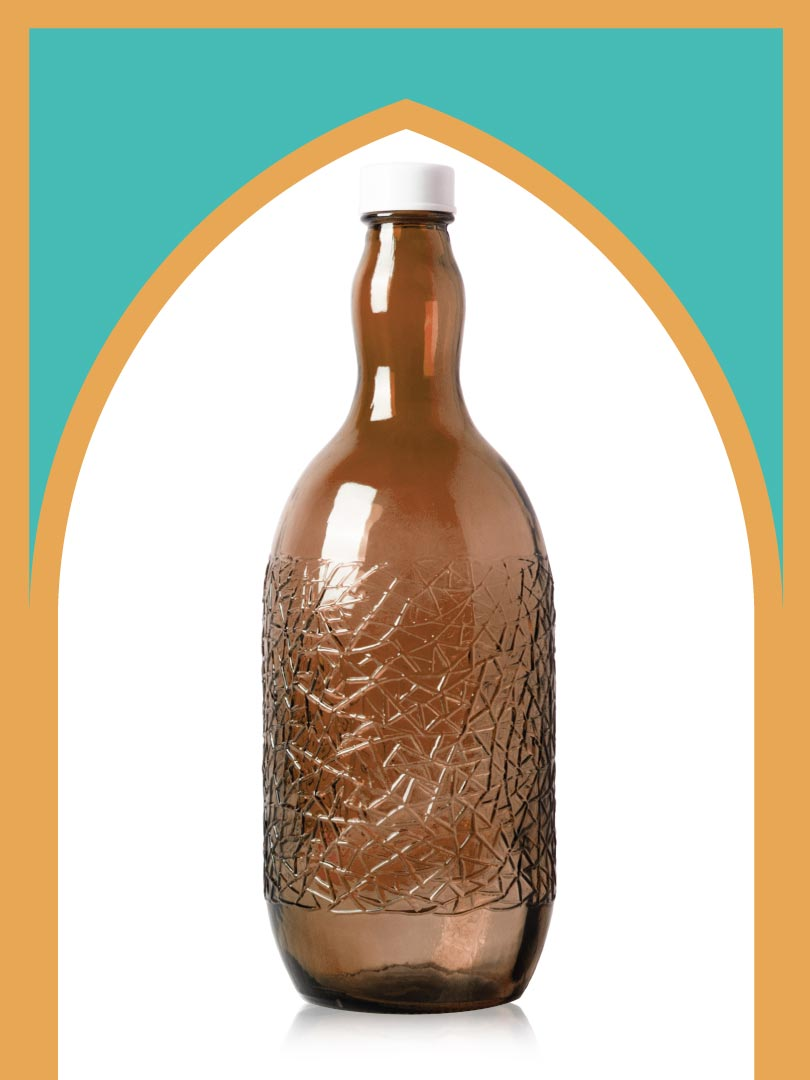 خرید بطری شیشهای قهوهای ساغر کوچکترین با درب پلاستیکی | 2 لیتری