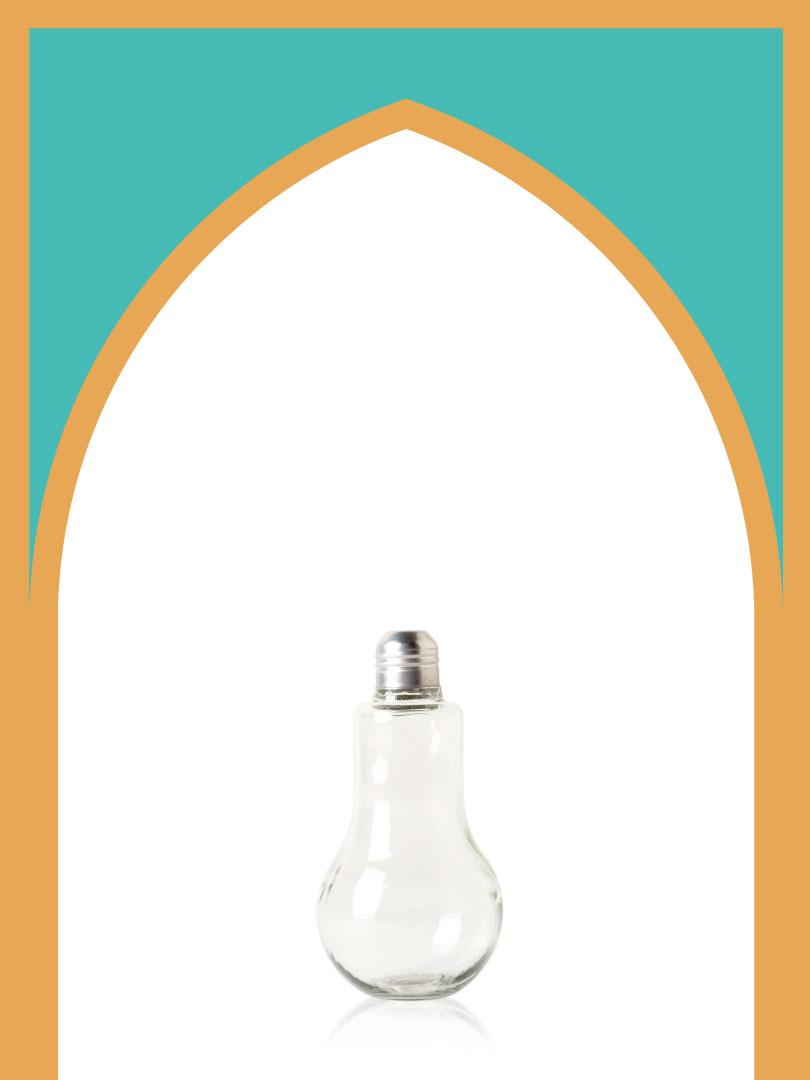 خرید بطری شیشهای لامپی با درب فلزی | 250 سیسی