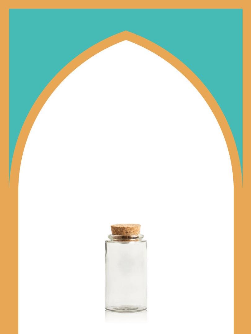 خرید بطری شیشهای آلپ خیلی کوتاه با درب چوب پنبهای | 150 سیسی