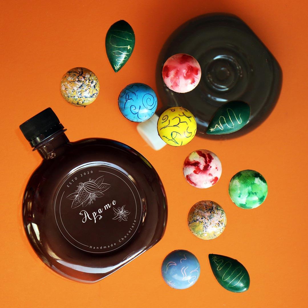 بطری شکلات دستساز گروه آپامه