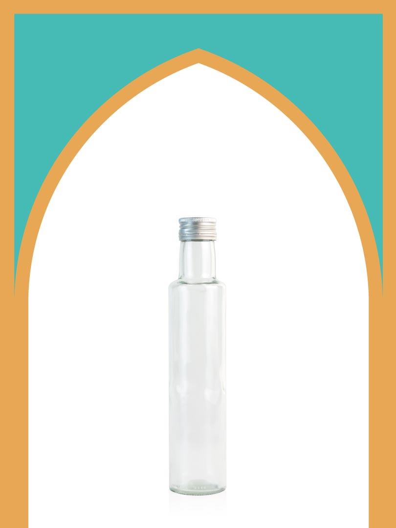 خرید بطری شیشهای الحمرا متوسط با درب فلزی | 250 سیسی