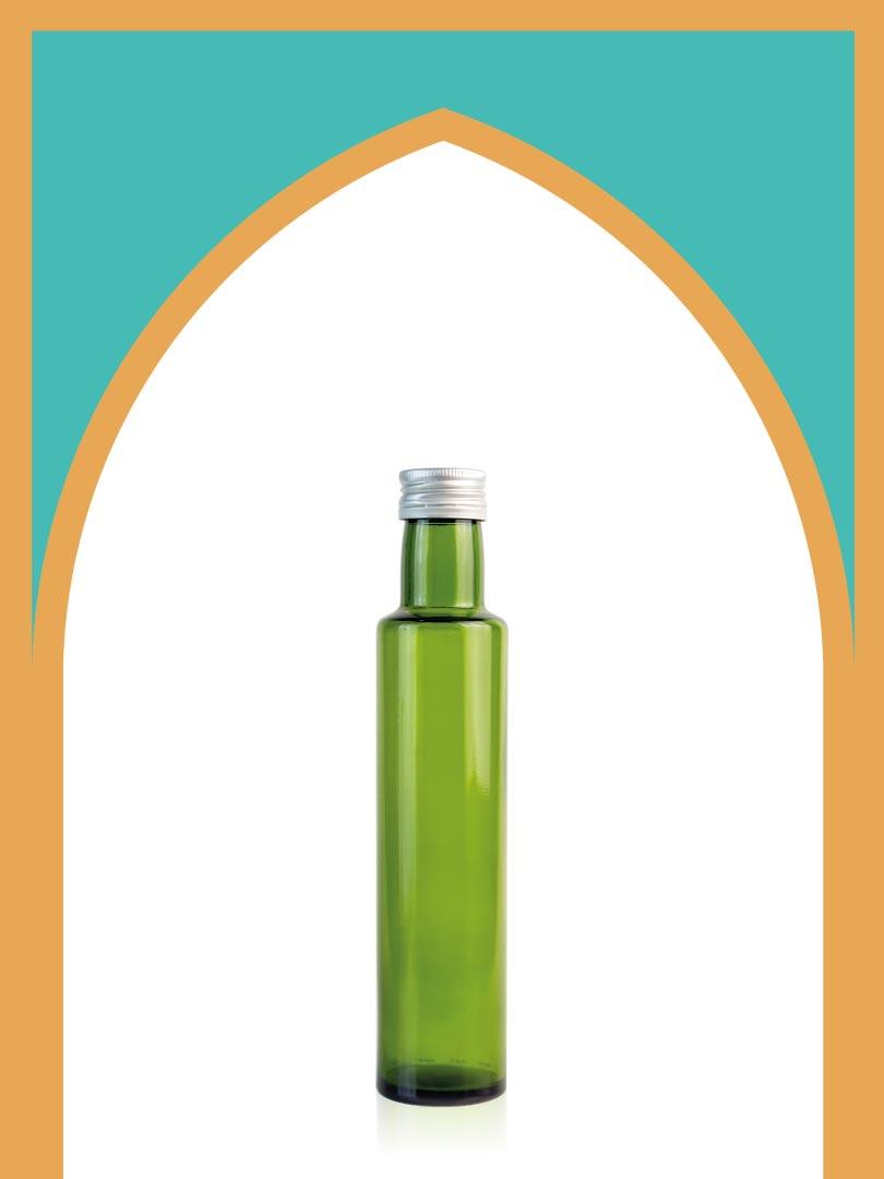خرید بطری شیشهای سبز الحمرا متوسط با درب فلزی | 250 سیسی