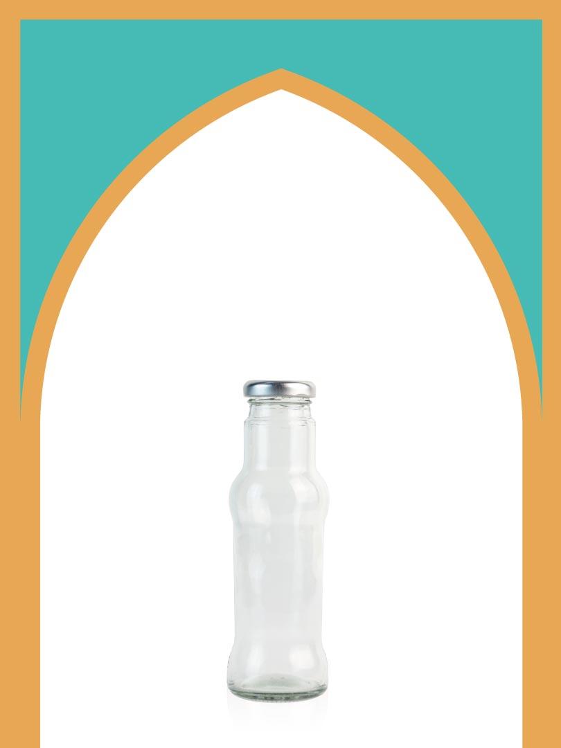 خرید بطری شیشهای رونیکا با درب فلزی | 250 سیسی