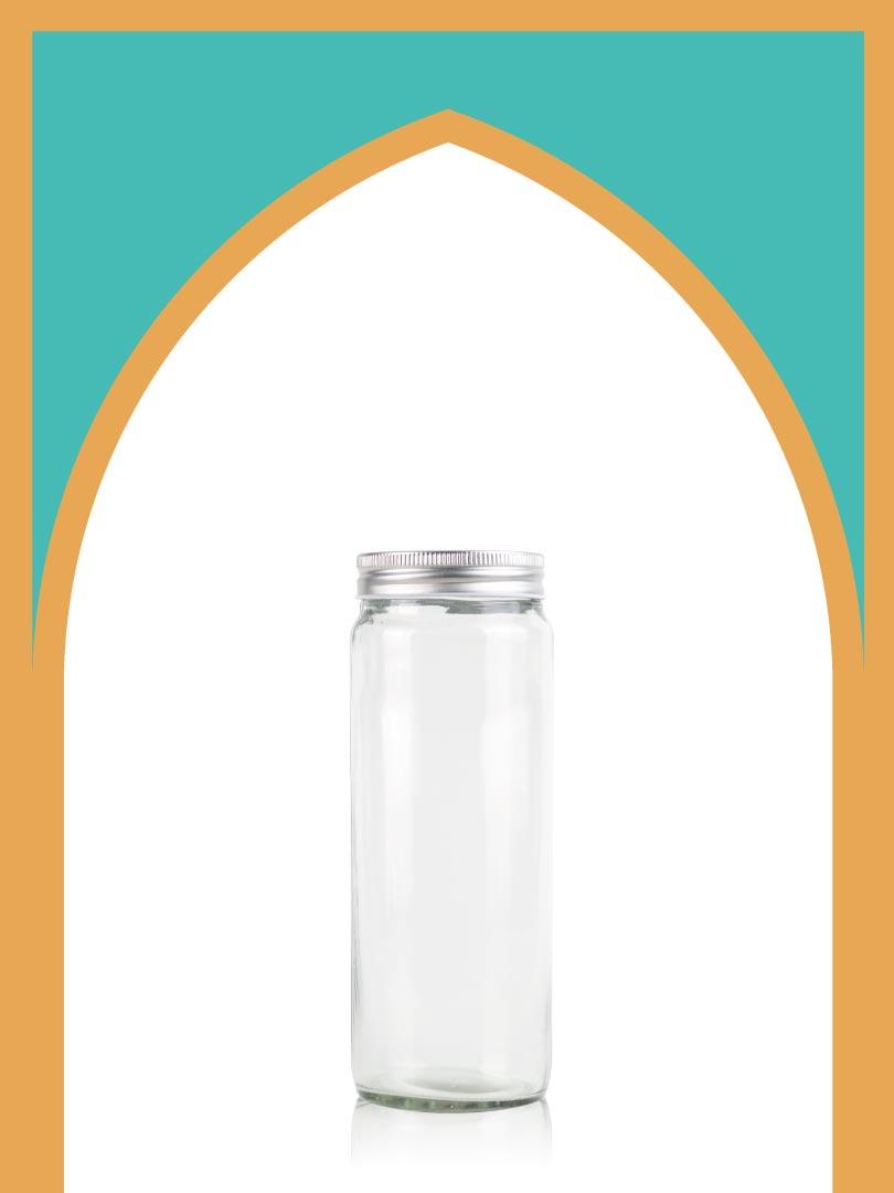 خرید جار شیشهای هلنا سایز 1 با درب فلزی | 750 سیسی