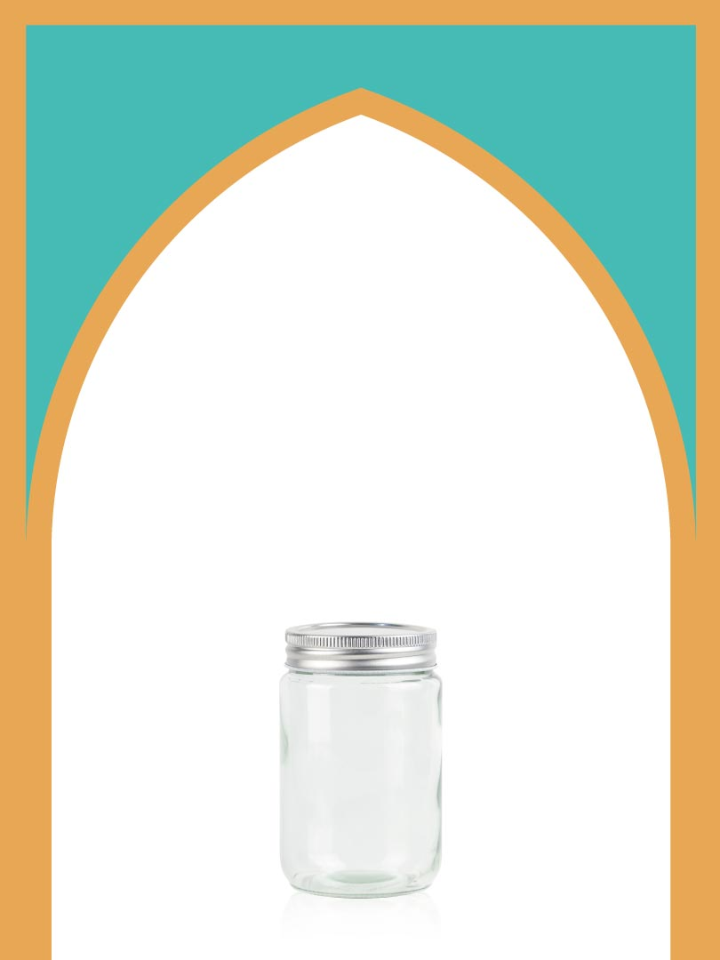 خرید جار شیشهای هلنا سایز 3 با درب فلزی | 400 سیسی