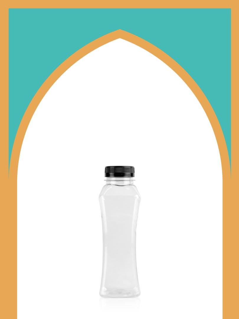 خرید بطری پلاستیکی پت مانکن کوچک با درب پلاستیکی | 330 سیسی