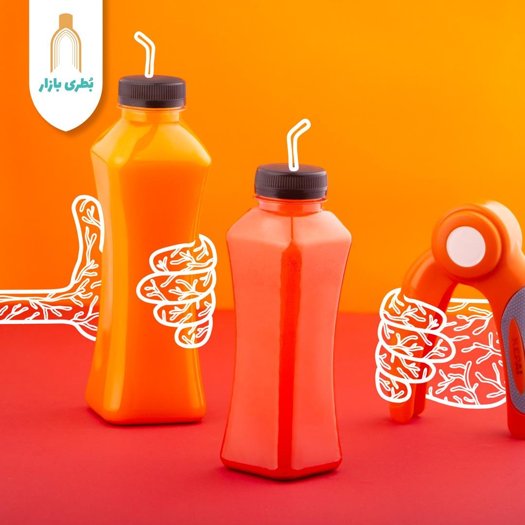 فروش بطری پلاستیکی پت مانکن کوچک با درب پلاستیکی | 330 سیسی