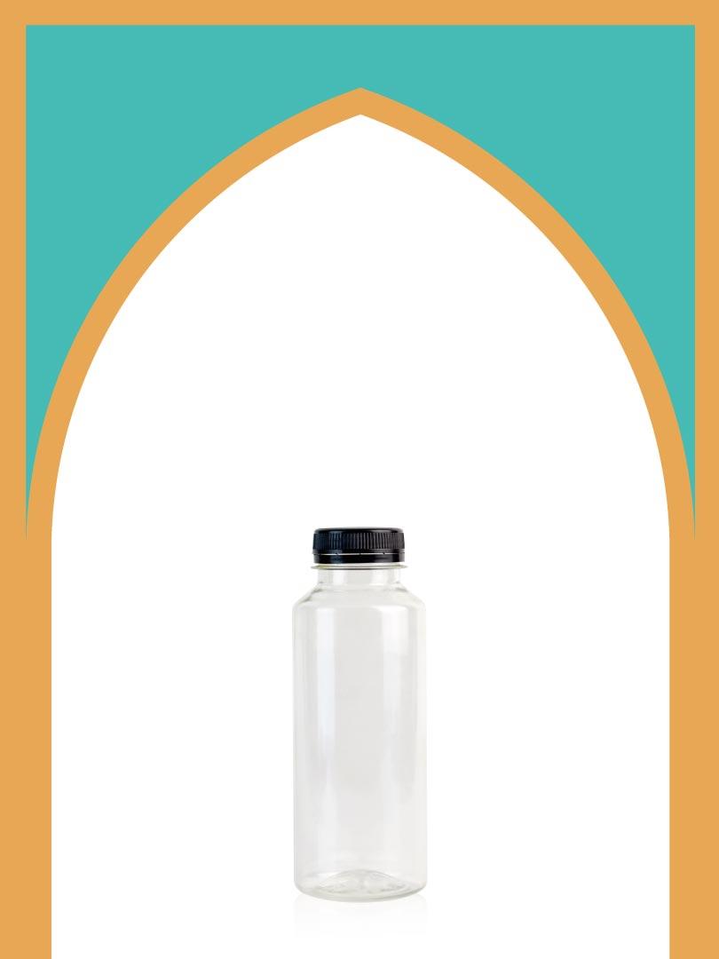 خرید بطری پلاستیکی پت مینیمال کوچک با درب پلاستیکی | 350 سیسی