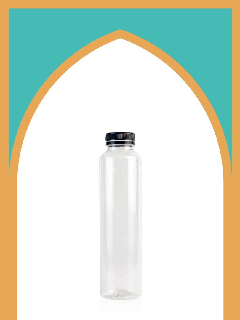 خرید بطری پلاستیکی پت مینیمال بزرگ با درب پلاستیکی | 500 سیسی