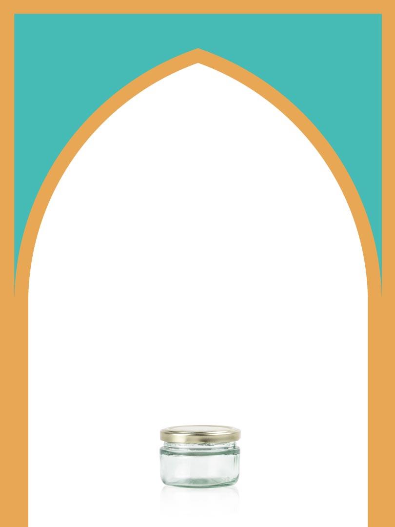 فروش جار شیشهای چلچله کوچک با درب فلزی