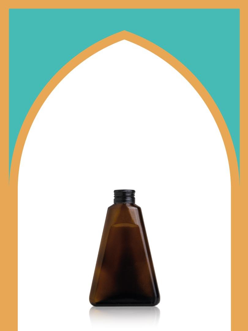 خرید بطری شیشهای قهوهای لچک با درب فلزی | 170 سیسی