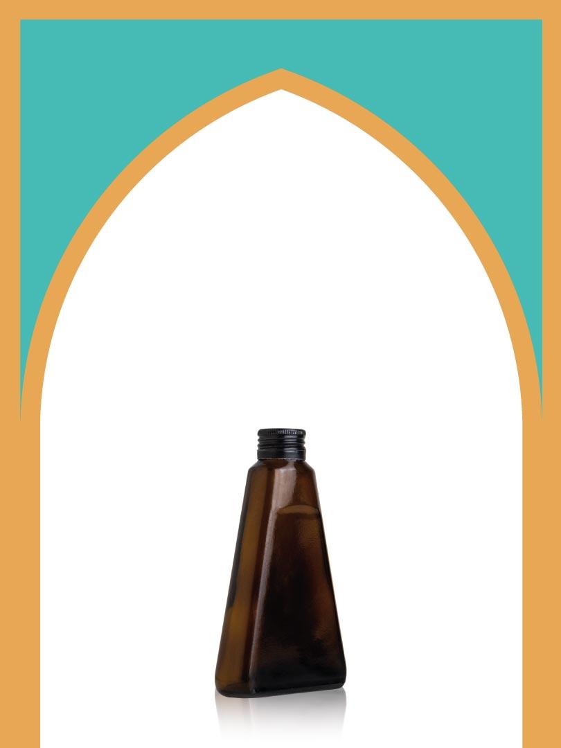 خرید بطری شیشهای قهوهای لچک با درب فلزی   170 سیسی